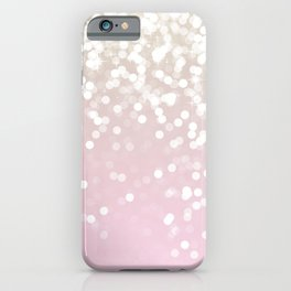 BLUSH GLITTER SPARKLE LIGHTS iPhone Case