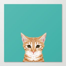 Tabby orange cat head cat breed gifts cute tabby cats must haves Canvas Print