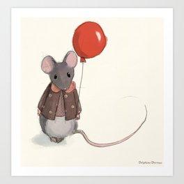 la souris au ballon Art Print