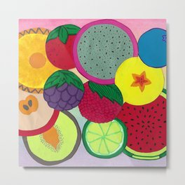 Fruity Circular Slices Metal Print