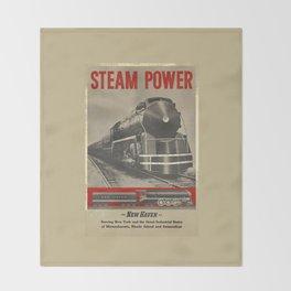 Train vintage Poster Throw Blanket
