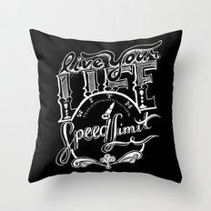 Speed Limit Throw Pillow