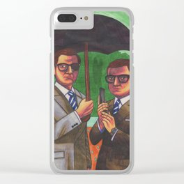 Suited Clear iPhone Case