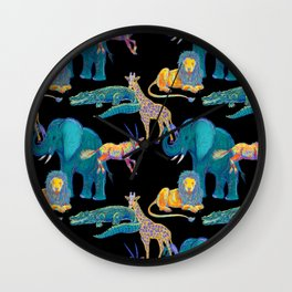 African Animals Wall Clock