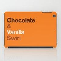 oitnb iPad Cases featuring Chocolate & Vanilla Swirl OITNB by Maria Giorgi