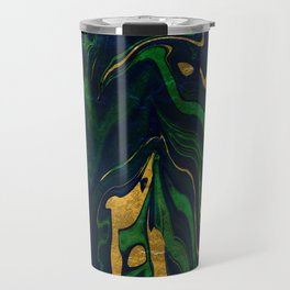 Rhapsody in Blue and Green and Gold Travel Mug