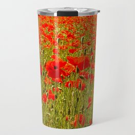 Sea of Normandy Poppies Travel Mug