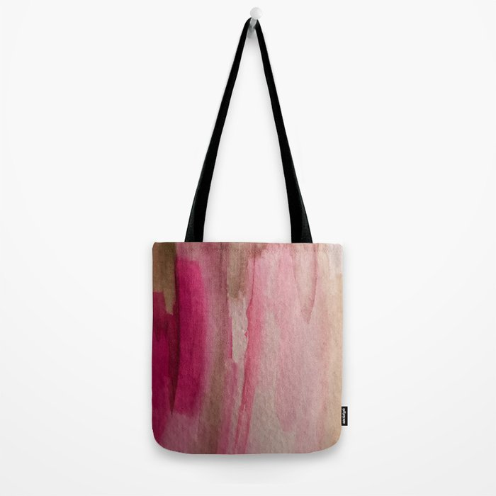 Blush: a pretty and gentle watercolor piece in pinks and browns Tote Bag