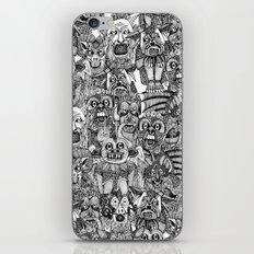 gargoyles black white iPhone & iPod Skin