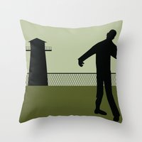 the walking dead Throw Pillows featuring Walking Dead by Drix Design