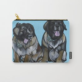 Simba and Snuffaluffagus the Leonbergers Carry-All Pouch