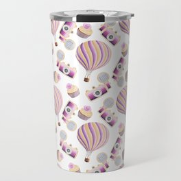 hot-air balloons, cameras and cupcakes Travel Mug