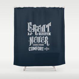 Comfort Zones - Motivation Shower Curtain