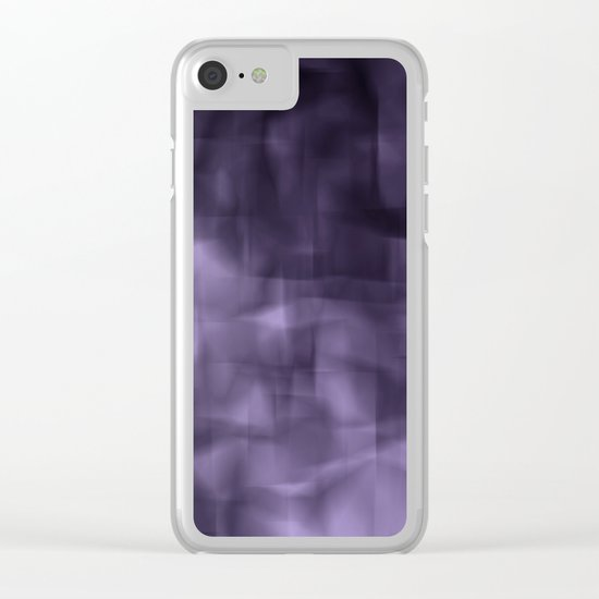 Purple abstract painting. Clear iPhone Case