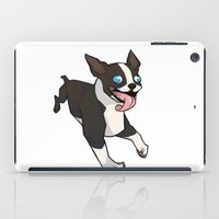 boston terrier iPad Cases featuring Boston Terrier by Suzanne Annaars