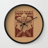 propaganda Wall Clocks featuring Dalek propaganda by Buby87