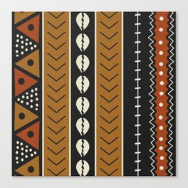 Let's play mudcloth Canvas Print