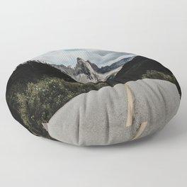 Mountain Road Floor Pillow