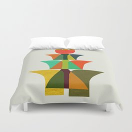 Whimsical bromeliad Duvet Cover