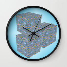 Retro Cubes Wall Clock
