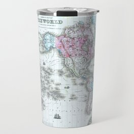 Vintage World Map 1855 Travel Mug