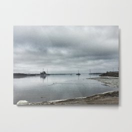 Mississippi River - Moline, Illinois - Winter 2017 Metal Print