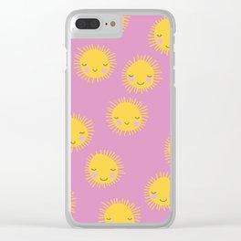 Little sunny sunshine love summer sky girls pink Clear iPhone Case