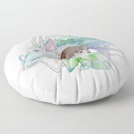 Chihiro and Haku Floor Pillow