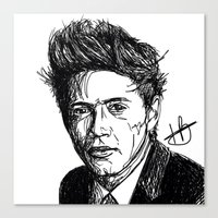 niall horan Canvas Prints featuring Niall Horan by Hollie B