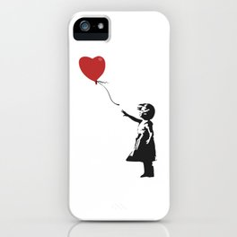 Girl with Balloon - Banksy Graffiti iPhone Case