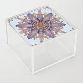 Passion Flower Mandala Acrylic Box