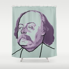 Gustave Flaubert Shower Curtain