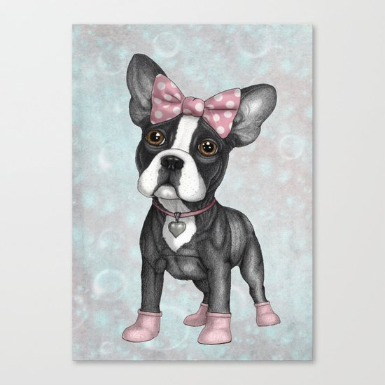 Sweet Frenchie Canvas Print