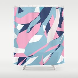 Hastings Zoom Pink Shower Curtain