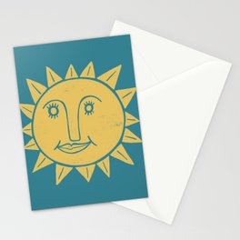 Cheerful Happy Sunshine Numero 2 Teal Stationery Cards