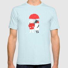In the Rain Mens Fitted Tee Light Blue SMALL