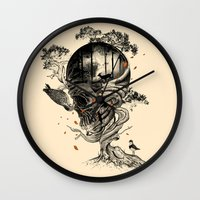 lost Wall Clocks featuring Lost Translation by nicebleed