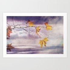 Faded Leaves - JUSTART © Art Print