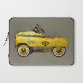 Yellow Taxi Pedal Car Laptop Sleeve