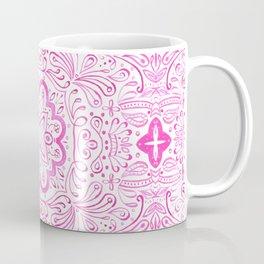 Maybelle Bright Pink tile Pattern Coffee Mug