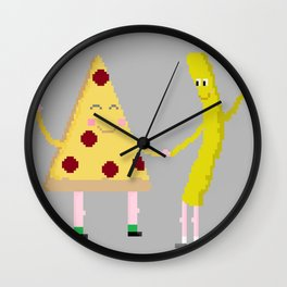 pizza/fry day Wall Clock
