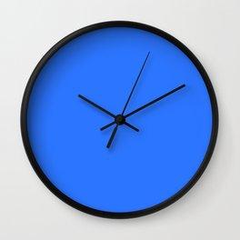 color deep electric blue Wall Clock