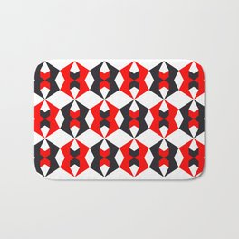 Geometric Pattern 115 (red hexagon) Bath Mat