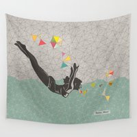 mom Wall Tapestries featuring Relax Mom by Orit Kalev