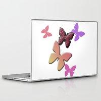 butterflies Laptop & iPad Skins featuring Butterflies by Judith Lee Folde Photography & Art