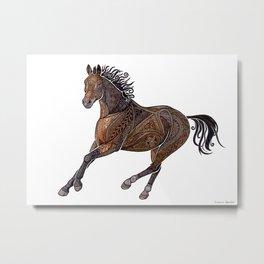 Grecian Horse Metal Print