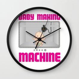 Baby Making Machine Pregnancy Reveal Wall Clock