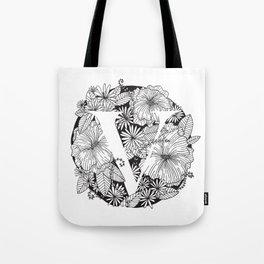 Flower V Tote Bag