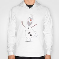 olaf Hoodies featuring olaf by Art_By_Sarah