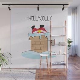 Holly jolly  Santa Wall Mural